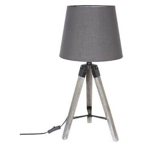 Lampe De Poser Trépied Runo 58Cm Grise Atmosphera