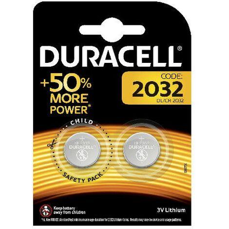 2 Piles DL 2032 Lithium DURACELL