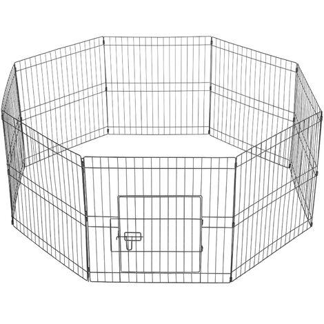 8 Panel Puppy Pen Pet Dog Exercise Playpen Rabbit Fence Enclosures Run Cage
