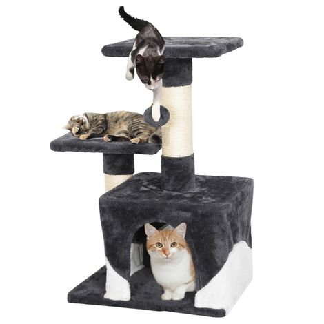 Cat Tree Tower Cat Scratch Posts Kitten Bed House Activity Center with Condo Perches Scratching Posts Furball