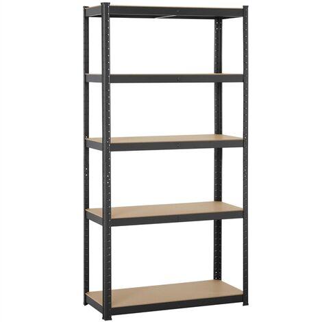 Garage Shelving Units - 5 Tier Heavy Duty Storage Shelves Metal Shed Utility Racking,180cm x 90cm x 40cm,175KG Per Shelf