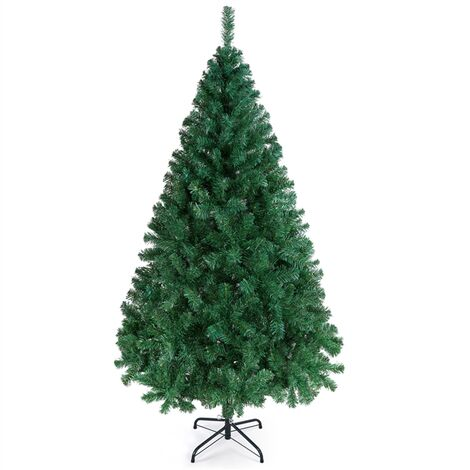 6ft Artificial Christmas Tree 598 Tips Hinged Spruce Christmas Tree with Foldable Stand 6 FT