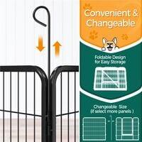 8 Panel Pet Playpen Puppy Dog Cat Rabbit Portable Cage Run Pen Folding Fence