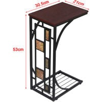 Antique Style End Table Sofa Side/Coffee/Snack/Storage Trolly Narrow Table for Home,Living Room,Office