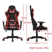 Ergonomic Gaming Chair Racing Style Office Chair High Back PU Leather Desk Chair Executive Computer Chairs with Lumbar Support