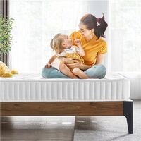 3ft Single Mattress Memory Foam 9-Zone Mattress with Pocket Sprung & Tencel Fabric,Orthopedic Bed Mattress,Medium Firm,90x190x22cm