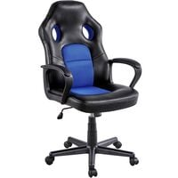 Gaming Chair High Back Ergonomic Racing Chair Office Reclining Chair Swivel Chair, Blue