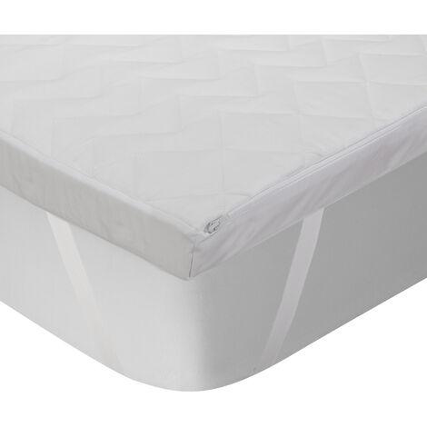 Classic Blanc - Topper viscoelástico acolchado de 5 cm con Triple barrera 150x200cm , Cama de 150 , Blanco