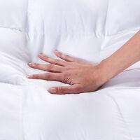 Classic Blanc - Topper de fibra con Aloe Vera dermoprotector 6,5 cm de alto 90x190cm , Cama de 90 , Blanco