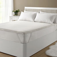 Classic Blanc - Topper viscoelástico transpirable de 3 cm muy confortable 90x190cm , Cama de 90 , Blanco