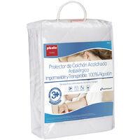 Pikolin Home - Protector de colchón acolchado antialérgico impermeable 150x200cm , Cama de 150 , Blanco