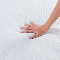 Classic Blanc - Topper viscogel con 5 zonas diferentes y 4 cm de grosor 90x190cm , Cama de 90 , Blanco