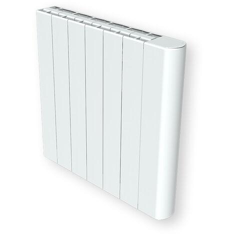 """main image of """"Cayenne radiateur à inertie céramique 1500W compact horizontal et plat LCD - Blanc"""""""