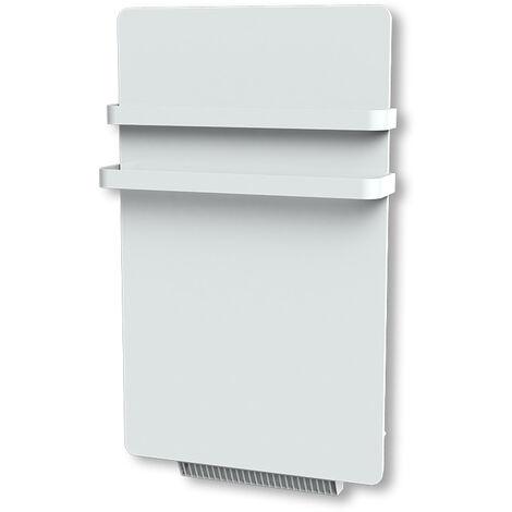 Cayenne radiateur sÞche-serviette 500W + soufflerie 900W (1400W) verre blanc LCD - Blanc