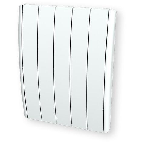 Cayenne radiateur à inertie fonte 1000W bombé à éléments LCD - Blanc