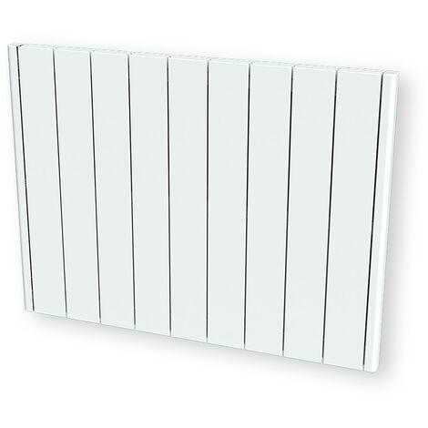 Cayenne radiateur à inertie céramique 2000W horizontal et plat LCD - Blanc