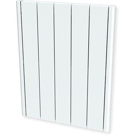 Cayenne radiateur à inertie céramique 1000W horizontal et plat LCD - Blanc
