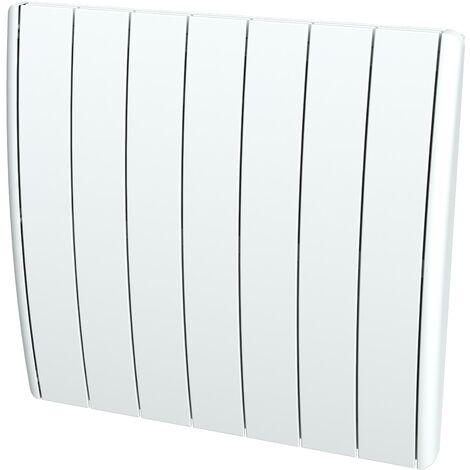 Cayenne radiateur à inertie fonte 1500W bombé à éléments LCD - Blanc