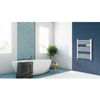 Cayenne radiateur sÞche-serviette 500W mini tubes ronds blanc LCD  - Blanc