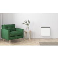 Cayenne radiateur à interie double coeur fonte + film 1000W LCD - Blanc