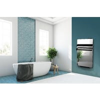 Cayenne radiateur sÞche-serviette 500W + soufflerie 900W (1400W) miroir LCD  - Miroir