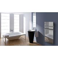 Cayenne radiateur sÞche-serviette 700W + soufflerie 900W (1600W) verre miroir LCD - Miroir