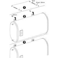 Carrera Chauffe-eau électrique plat multi-positions 47L - norme NF CE IPX4 - 2 personnes - Blanc