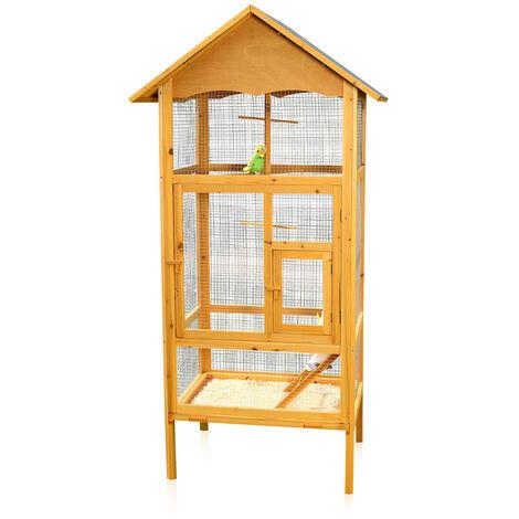 Pajarera jaula para pájaros casa de pájaros de madera habitación de pájaros jaula de loros nido casita para aves jaula para canarios