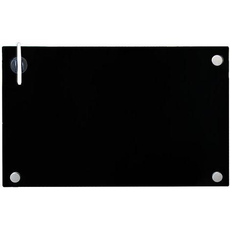 Pizarra magnética Pizarra de pared Pizarra para notas Panel de vidrio Cristal para escribir para colgar organizar oficina casa imán imanes