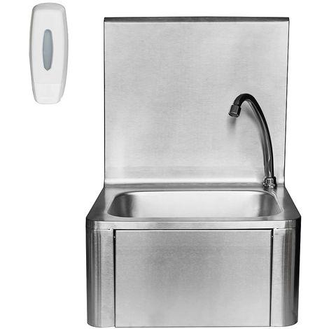 Lavabo Lavamanos Fregadero de acero inoxidable de pared Fregadero de pared Lavabo de pared baño cocina hogar casa interior diseño