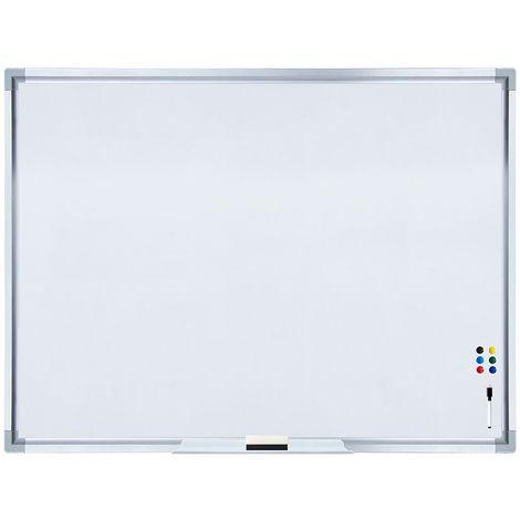 Pizarra magnética Pizarra de pared Pizarra para notas 120 x 90 cm Panel de vidrio Cristal para escribir para colgar organizar oficina casa