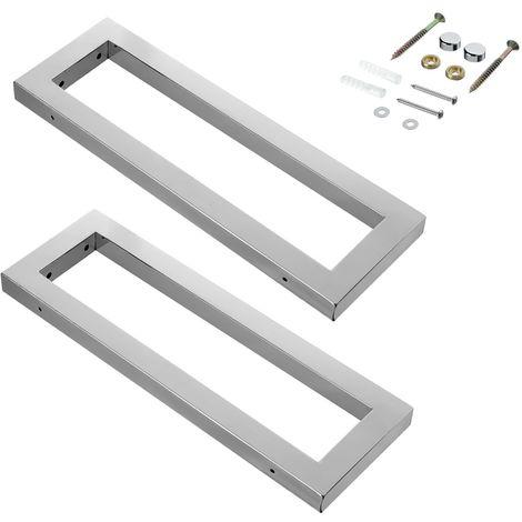 SET de 2 Soportes para lavabo estante de lavabo baño 45CM de acero inoxidable soporte de lavamanos encimera lavabo cuarto de baño montaje