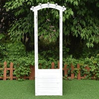 Arco de rosas jardinera rejilla Blanco enrejado arco de jardín columna de rosas soporte para plantas de madera macetero maceta arriate