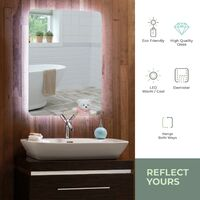MOOD Illuminated Bathroom Mirror 80cm x 60cm