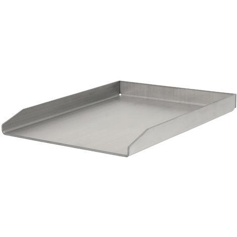 BBQ-Toro Plaque de grill en acier inoxydable | 30 x 40 cm | Plancha de BBQ | Plaque à griller