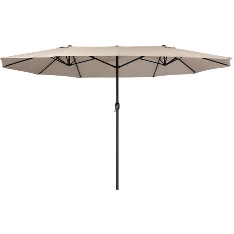 Zelsius Parasol   parasol double avec manivelle   460x270 cm (taupe)