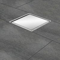 "Zelsius Siphon de sol en acier inoxydable ""Noosa""   12 x 12 cm"