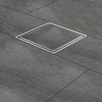 """Zelsius Siphon de sol en acier inoxydable """"Gladstone""""   30 x 30 cm"""