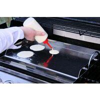 BBQ-Toro Plaque de grill universelle en acier inoxydable   51 x 32 cm   Plancha de BBQ
