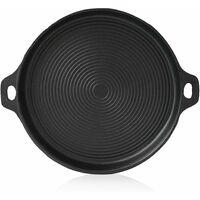 BBQ-Toro Plancha en fonte | Ø 35 cm | Plaque de grillage, Poêle à griller