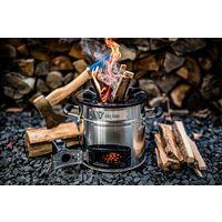 BBQ-Toro Poêle-fusée RAKETE #2 | noir | Poêle-fusée en acier inoxydable