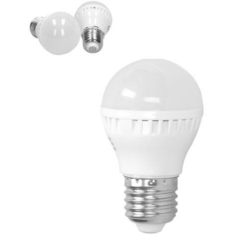 ECD Germany Bombilla LED E27 3W 220-240V 200 lumens Reemplaza lámparas incandescentes de 25W Blanco cálido Lámpara ahorradora de energía de 2800K