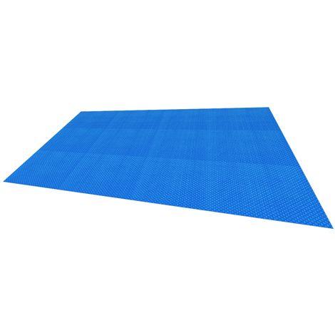 Lámina piscina protección lona solar calefacción granos burbujas 8 x 5 m azul
