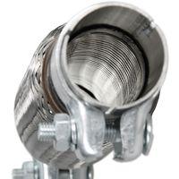 Tubo escape flexible 45 x 150/260 mm con 2 pinzaz abrazaderas acero inoxidable