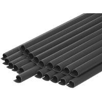 Malla protectora PVC 35m rollo ocultación cerca resistente intemperie antracita