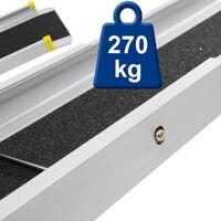2x Rampas de aluminio plegable carril de carga para sillas de ruedas 215 cm