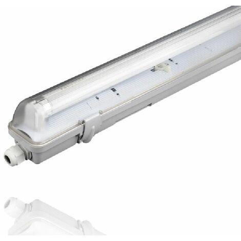 Carcasa estanca para tubo Led T8 de Roblan | 2 tubos - 120cmt