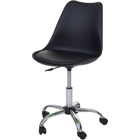 Drehstuhl Malmö HHG-105, Bürostuhl Arbeitshocker, höhenverstellbar ~ Kunstleder, schwarz