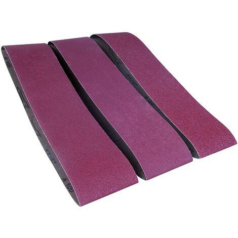 grains 100 5PCS Bandes abrasives pour ponceuse /à bande//courroies abrasives 50x686 mm