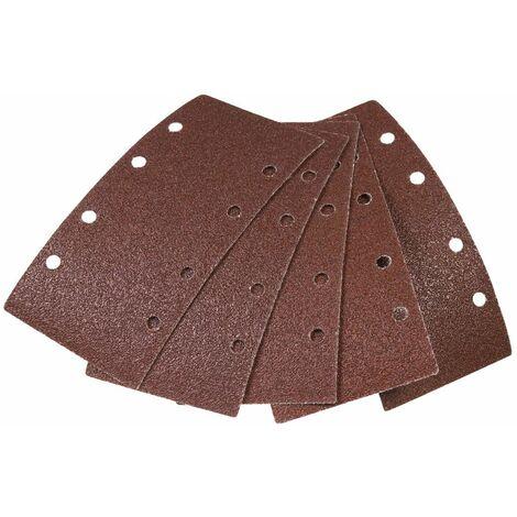 FERM Papier abrasif (5 pcs) G60 G80 G120 - pour ponceuse vibrante